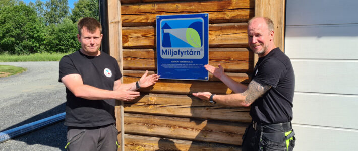 Vi er sertifisert Miljøfyrtårn!