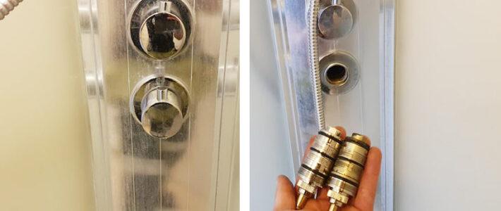 Bytte armatur/termostat i dusjkabinett?
